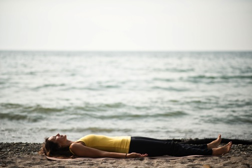 Shavasana Yellow Beach